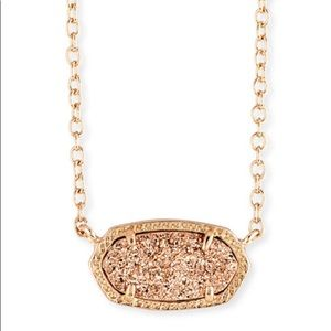 Kendra Scott Elisa Druzy Necklace in Rose Gold